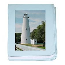 Ocracoke, North Carolina Lighthouse baby blanket