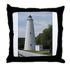 Ocracoke, North Carolina Lighthouse Throw Pillow