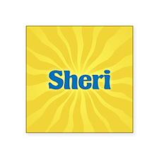 "Sheri Sunburst Square Sticker 3"" x 3"""