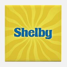 Shelby Sunburst Tile Coaster