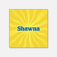 "Shawna Sunburst Square Sticker 3"" x 3"""