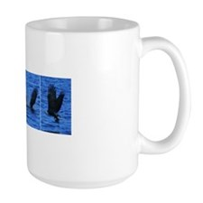 3 images of Eagle catching a Coot Mug