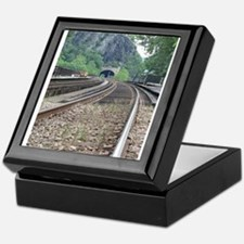 Harpers Ferry WV Railroad Tracks Keepsake Box