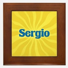 Sergio Sunburst Framed Tile