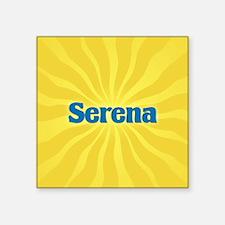 """Serena Sunburst Square Sticker 3"""" x 3"""""""