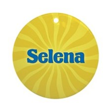 Selena Sunburst Ornament (Round)