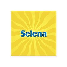 "Selena Sunburst Square Sticker 3"" x 3"""