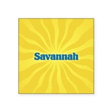 "Savannah Sunburst Square Sticker 3"" x 3"""