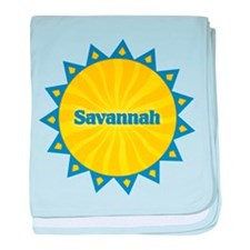 Savannah Sunburst baby blanket