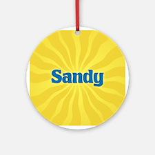 Sandy Sunburst Ornament (Round)