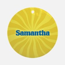 Samantha Sunburst Ornament (Round)