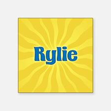 "Rylie Sunburst Square Sticker 3"" x 3"""