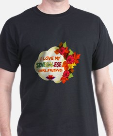 Senegalese Girlfriend Valentine design T-Shirt
