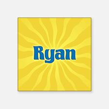 "Ryan Sunburst Square Sticker 3"" x 3"""