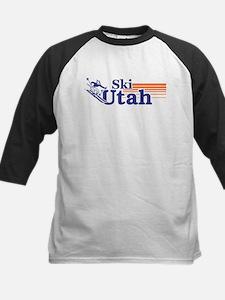 Ski Utah (male) Kids Baseball Jersey