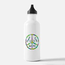 Peace Love Math Water Bottle