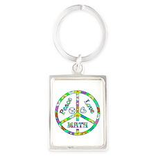 Peace Love Math Portrait Keychain