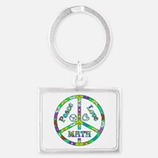 Peace Love Math Landscape Keychain