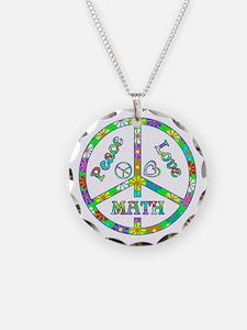 Peace Love Math Necklace