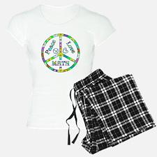Peace Love Math pajamas