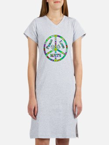 Peace Love Math Women's Nightshirt
