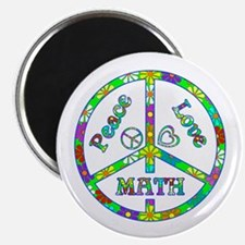 "Peace Love Math 2.25"" Magnet (10 pack)"
