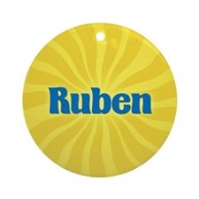 Ruben Sunburst Ornament (Round)