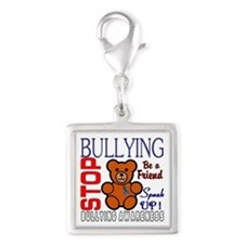 Bullying Awareness Silver Square Charm
