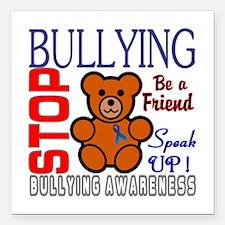 """Bullying Awareness Square Car Magnet 3"""" x 3"""""""