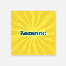 "Roxanne Sunburst Square Sticker 3"" x 3"""