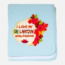 Sri Lankan Girlfriend Valentine design baby blanke
