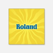 "Roland Sunburst Square Sticker 3"" x 3"""