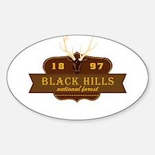 Black Hills National Park Crest Sticker (Oval)