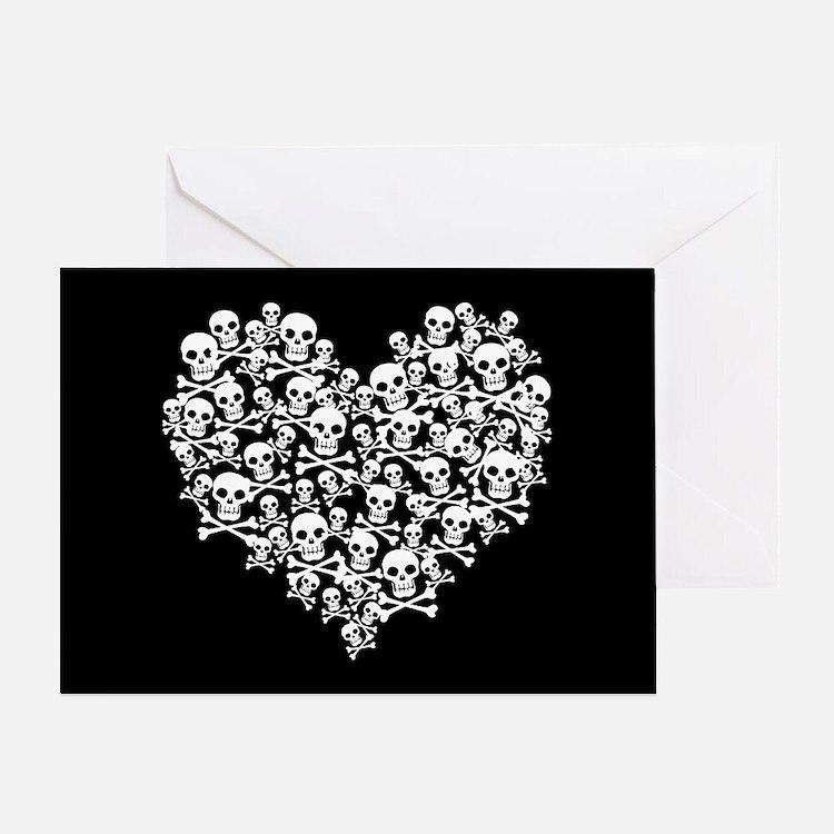 Skull Heart Greeting Card