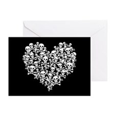 Skull Heart Greeting Cards (Pk of 10)
