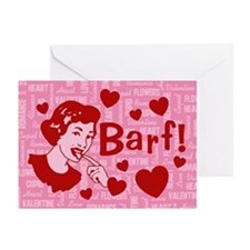 Hearts And Romance Barf Greeting Cards (Pk of 10)