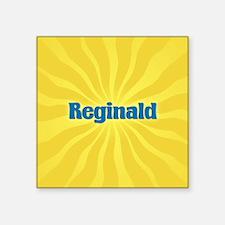 "Reginald Sunburst Square Sticker 3"" x 3"""