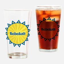 Rebekah Sunburst Drinking Glass