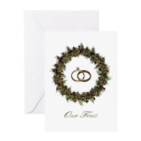 1st Christmas Married - Pine, Greeting Card