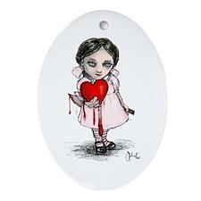 Malicious Valentine Girl Ornament (Oval)