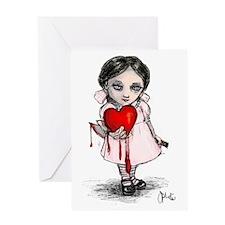 Malicious Valentine Girl Greeting Card