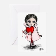 Malicious Valentine Girl Greeting Card