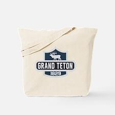 Grand Teton Nature Badge Tote Bag
