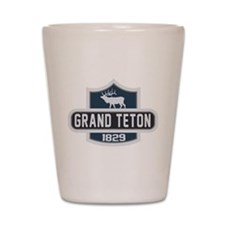 Grand Teton Nature Badge Shot Glass