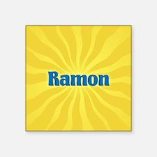"Ramon Sunburst Square Sticker 3"" x 3"""