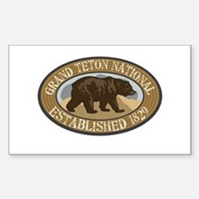 Grand Teton Brown Bear Badge Decal