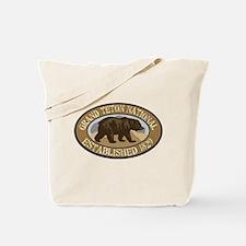 Grand Teton Brown Bear Badge Tote Bag