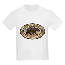 Grand Teton Brown Bear Badge T-Shirt