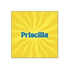 "Priscilla Sunburst Square Sticker 3"" x 3"""