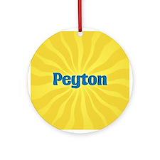 Peyton Sunburst Ornament (Round)